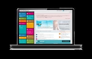 écran d'ordinateur, menu MEDI +4000 sage-femme