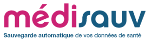 logo médisauv, la sauvegarde automatique de vos données de santé
