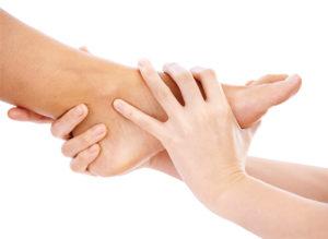 manipulation d'un pied