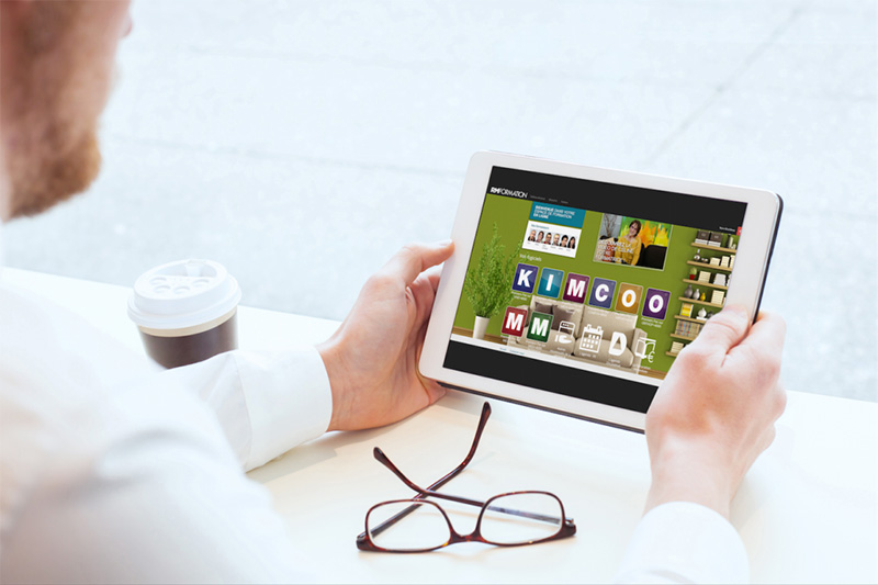 tablette avec interface e-learning