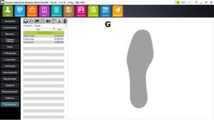 interface dossier médical podologue