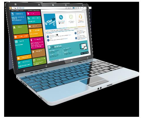 Interface du logiciel de gestion de cabinet ORTHO +4000